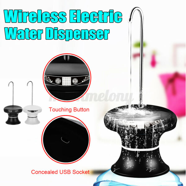 Rechargeable Auto Wireless Electric Water Pump Bucket Bottle Dispenser USB USA $31.04