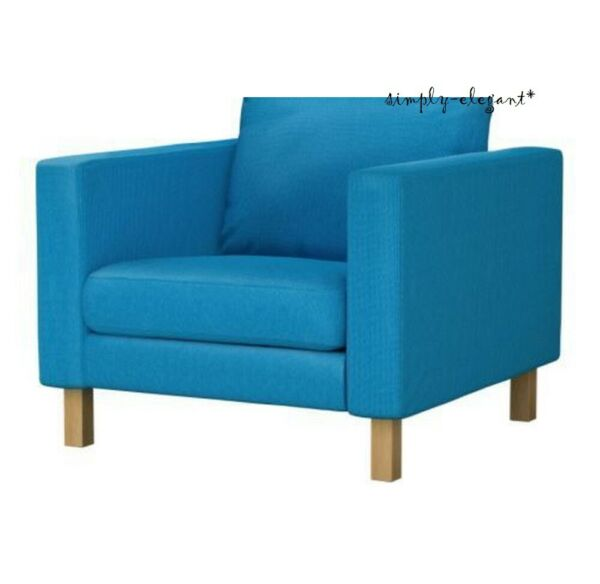 IKEA COVER for Karlstad Chair Armchair KORNDAL BLUE Slipcover 301.469.92 NEW NOS $174.50