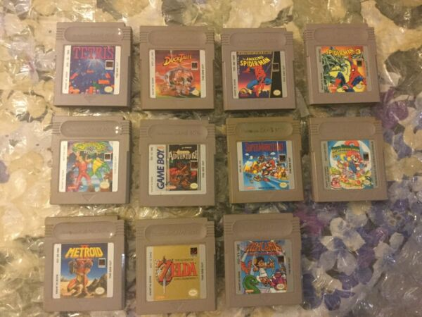 10 GameBoy games lot Kid Icarus Legend of Zelda SML 12 etc.