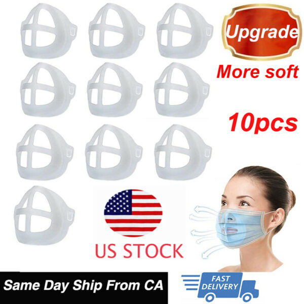 10x 3D Face Mask Separate Inner Support Frame Mouth Mask Bracket Reusable Holder