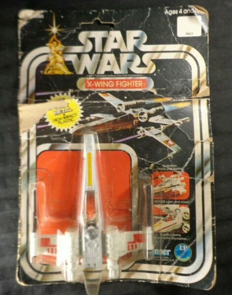 Star Wars Vintage Die Cast X Wing Fighter SEALED MOC12 1978 Clear Clean Window