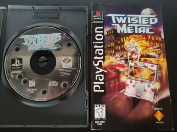 Twisted Metal Long Box Manual amp; Disc NO BOX Sony PlayStation 1 1995