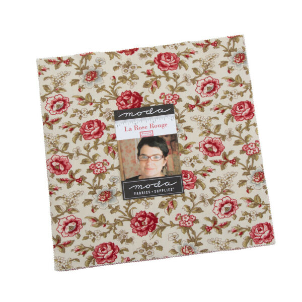 La Rose Rouge Layer Cake by French General for Moda 42 10quot; Squares