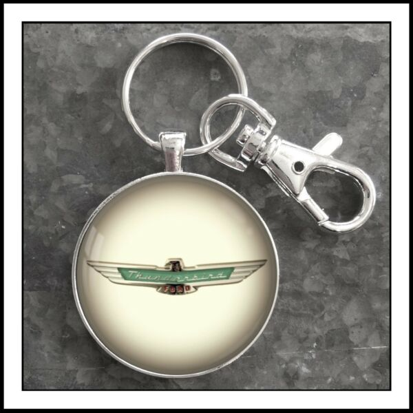 Vintage Ford Thunderbird Emblem Photo Keychain Key Chain Gift T Bird