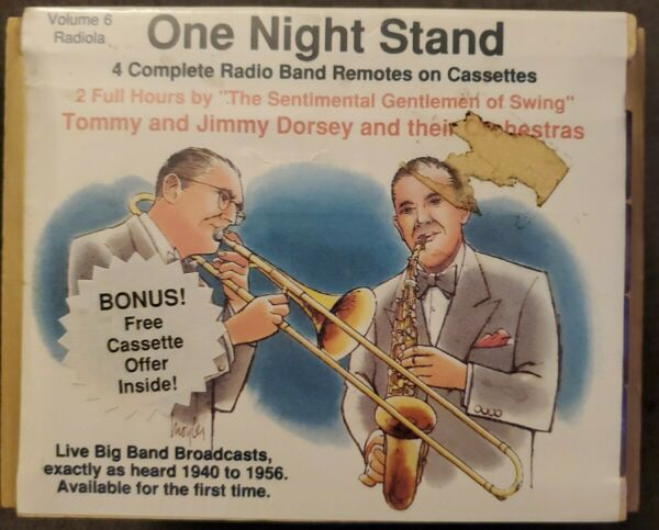 Tommy and Jimmy Dorsey: One Night Stand Vol. 6 4 Cassette Tapes Sealed $19.99