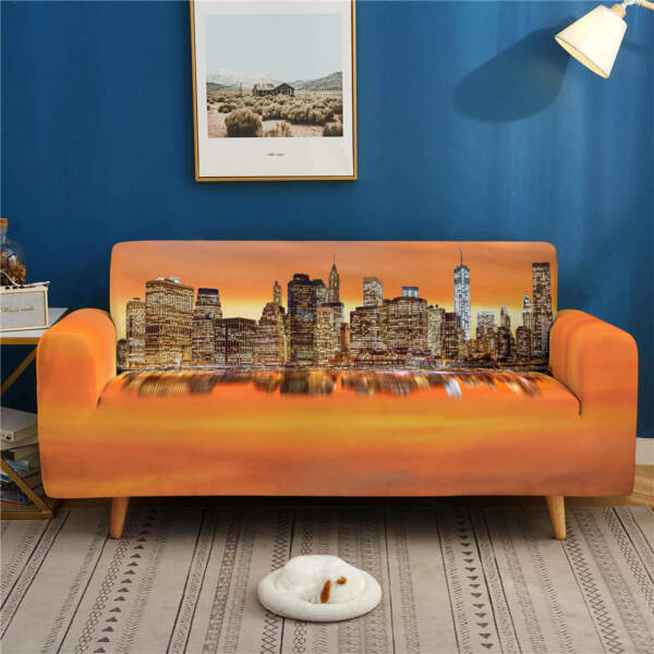CityStretch Sofa Cover Lounge Couch Slipcover Recliner Protector Washable AU $53.11