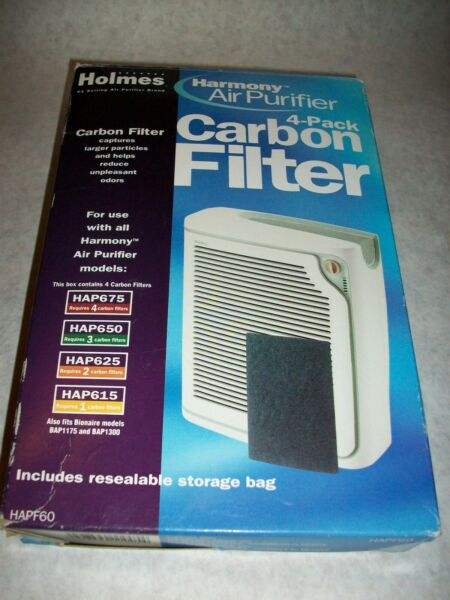 Holmes Replacement Carbon Odor Filter for Air Purifiers Pack of 4 HAPF60 NIB $10.50