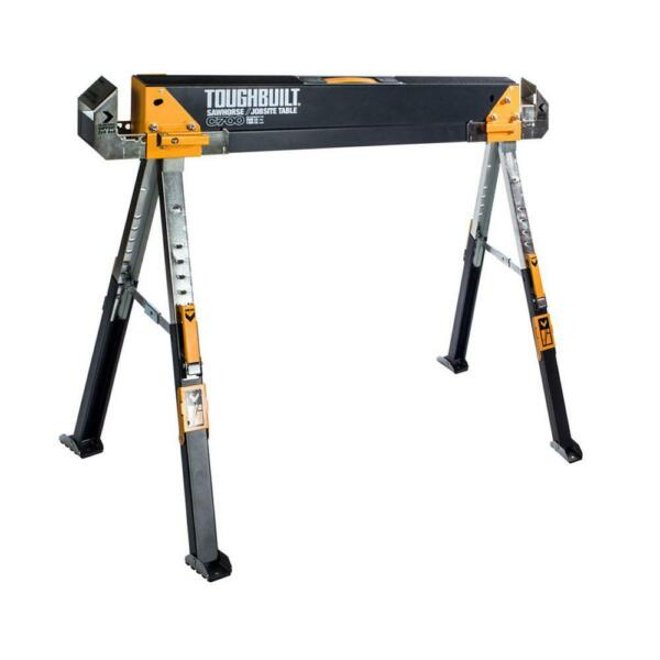 TOUGHBUILT Steel Sawhorse Portable Stand Folding Adjustable Heavy Duty Metal $54.97