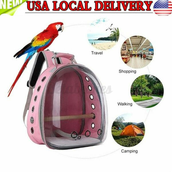 Large Pet Portable Carrier Backpack Space Capsule Travel Dog Cat Transparent Ba $42.51