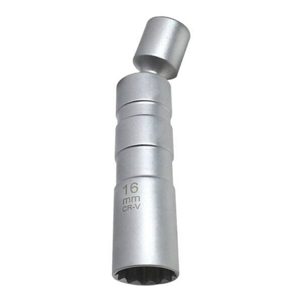 16mm Magnetic Thin Wall Swivel Spark Plug Socket Removal Tool 12 Pt 3 8#x27;#x27; $11.63