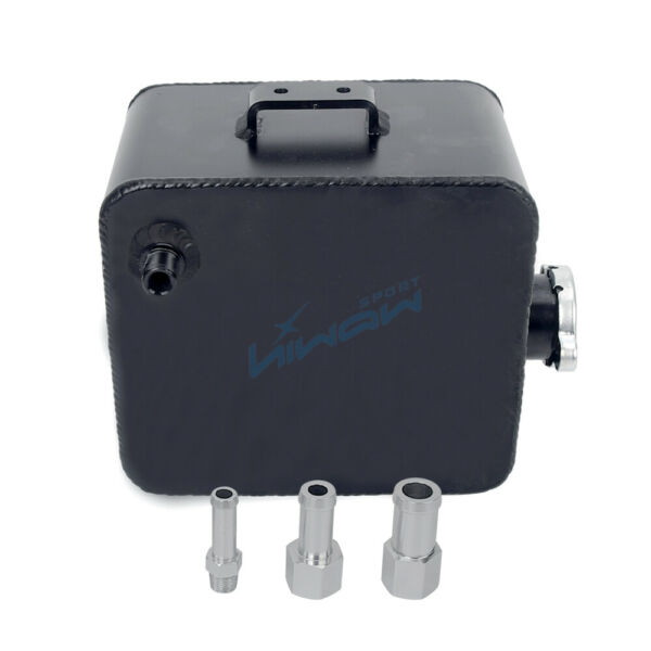 2.5L Coolant Water Expansion Tank Bottle Header Aluminium Alloy Universal Black $27.99