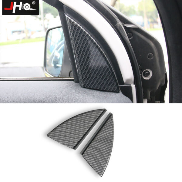 ABS Carbon Grain Front Triangle Overlay Cover Trim for Ford Explorer 2016 2019 $18.79