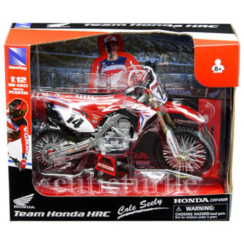 New Ray Team Honda HRC CRF 450R Dirt Bike 1:12 Motorcycle 57933 #14 Cole Seely $17.40