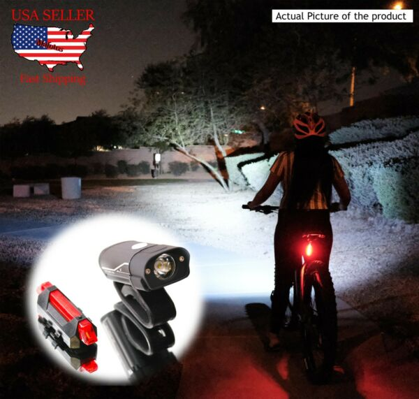 USB Rechargeable Bike Headlight Back Light Set. 2020 high quality. 600 Lumens