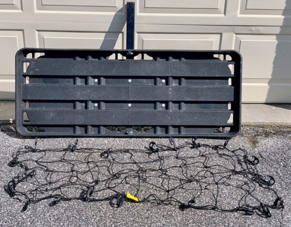HITCH MOUNTED CARGO LUGGAGE CARRIER TRAILER RECEIVER RACK TRUCK SUV CAR W NET $99.00