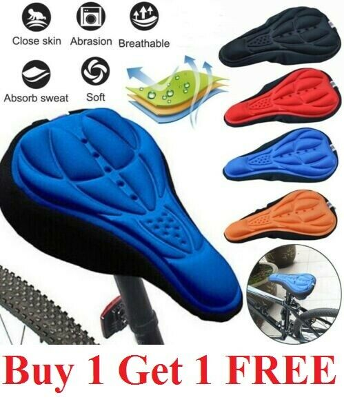 Bike 3D Gel Saddle Seat Cover Bicycle Silicone Soft Comfort Pad Cushion Padded $7.99