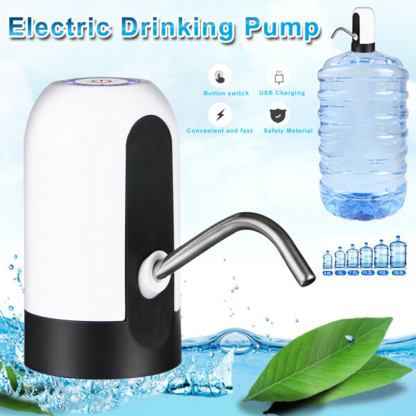 Electric Gallon Bottle Water Pump Dispenser Wireless Camping Drinking Switch Btn $9.35