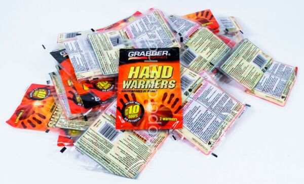 40 pairs Grabbers HAND WARMERS Hunting Winter 10 Hours of Heat 80 ct 2023 $27.99