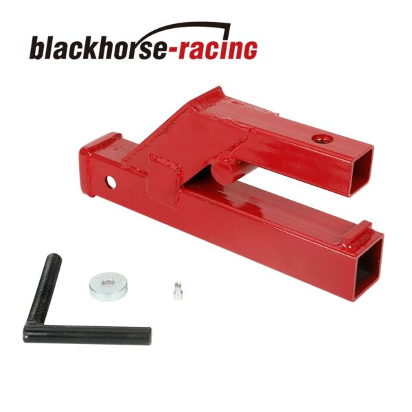 Clamp On Trailer Hitch 2quot; Ball Mount Receiver Deere Bobcat Tractor Bucket Red $49.99