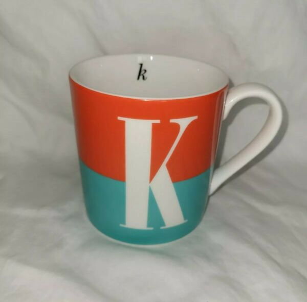 Kate Spade Lenox Wickford Red Letter Day quot;Kquot; Coffee Mug