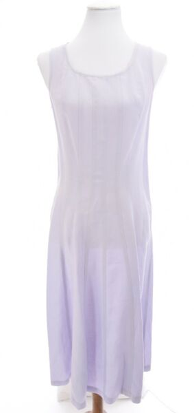 J Jill 100% Linen Fit and Flare Sleeveless Dress Easter Pastel Purple Sz Small $22.09