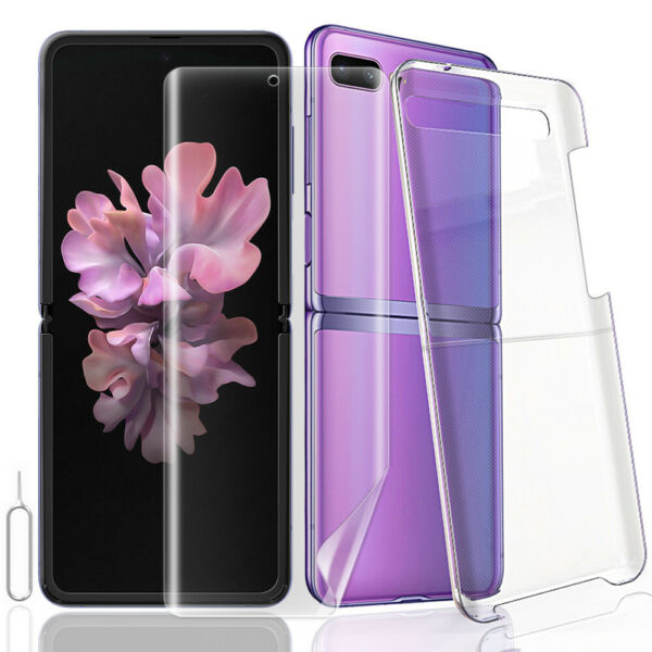 Soft Pet Screen Protector PC Protective Case for Samsung Galaxy Z Flip 5G F707U $16.54