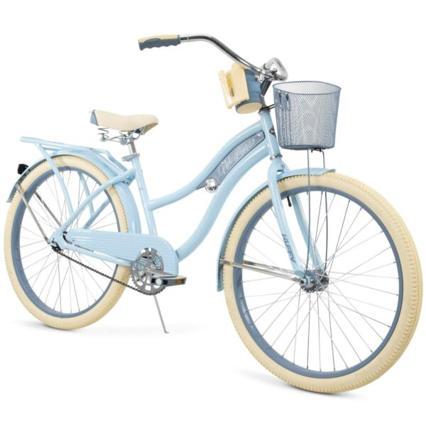 Huffy 26quot; Nel Lusso Women#x27;s Classic Cruiser Bike Perfect Fit Frame Light Blue $225.00
