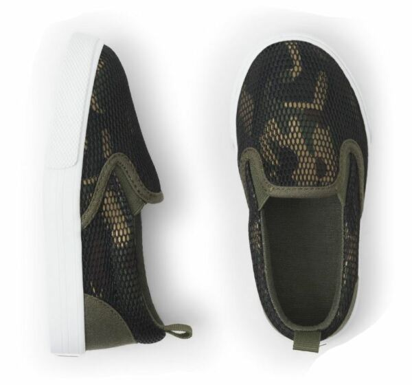 Crazy 8 Mesh Camo Slip On Shoes Toddler Boys Size 4 NEW with tags $8.95