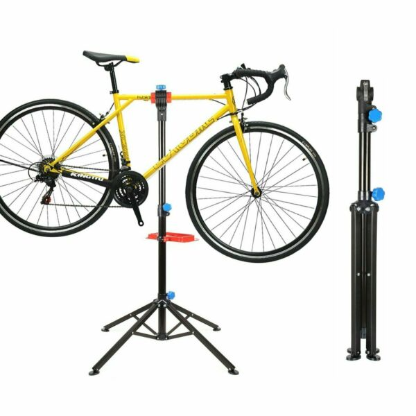 Heavy Duty Bike Repair Stand Adjustable Maintenance Folding Bike Rack Tool Tray $39.99