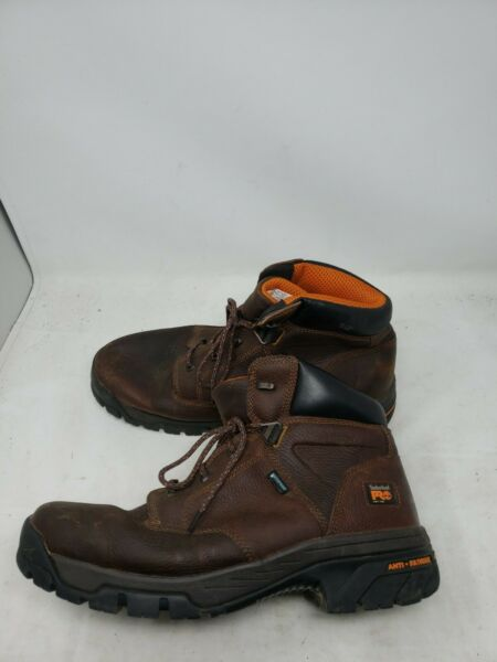 Timberland NEW PRO Men#x27;s 14 Helix 6 Inches Soft Toe Work Boot Brown 87529 W885 $59.99