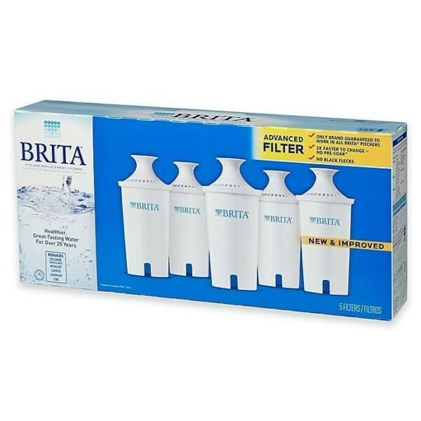 Brita Pitcher 5 Pack Advanced Replacement Water Filters 2 Single Packs