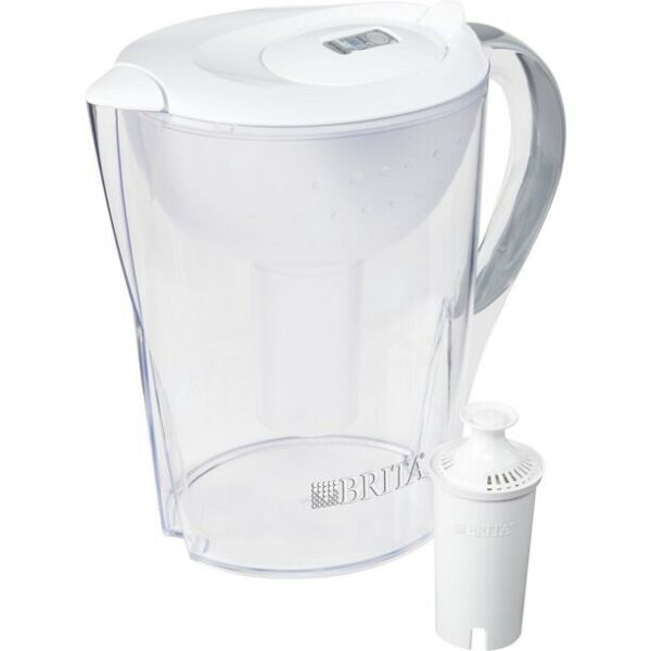 Brita Pacifica Water Filter Pitcher with Filter 10 Cup White