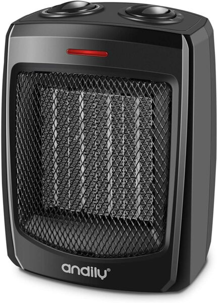 Electric Heater for Home Office Ceramic Small Heater With Thermostat BLACK $34.99