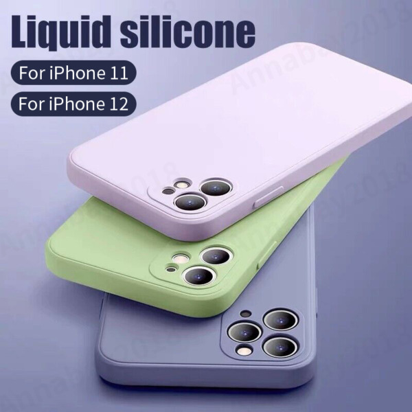 Liquid Silicone Case Camera Lens Cover For iPhone 12 11 Pro XS Max XR X 8 7 SE $5.99