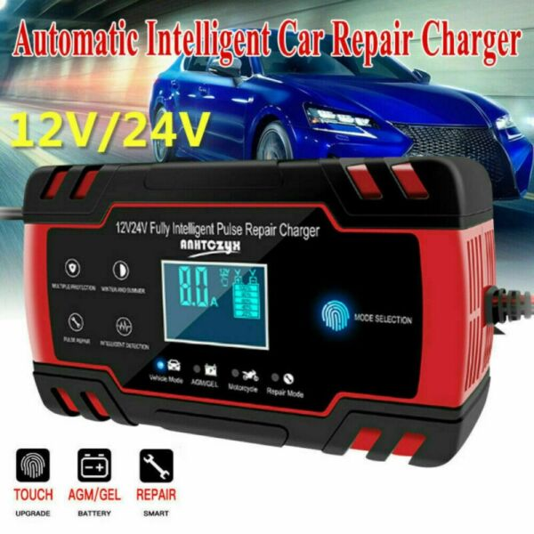 12V Car Battery Charger Portable Auto Jump Starter Power Bank Booster Maintainer $25.01