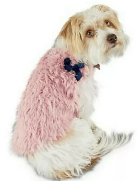 🔥Bond amp; Co. Modern Lux Collection Pink Dog SOFT Fuzzy Vest Sweater Small🔥 $11.99