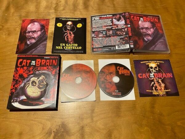 Cat In the Brain Blu ray*Grindhouse Releasing*Glow In the Dark Slipcover*2 Disc* $20.00