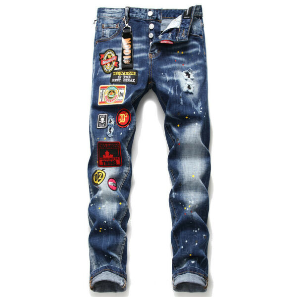 new Dsquared2 Jeans men#x27;s elastic slim denim multi craft icon QSD2 denim $37.27