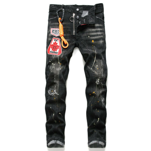 SQD2 Dsquared2 Same Style Paint Cool Damaged Jeans Trendy Men $30.14