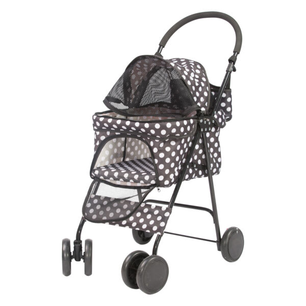 Livebest Folding Dog Stroller Travel Cage Pet Cat Kitten Puppy Carriages 4 Wheel $69.99