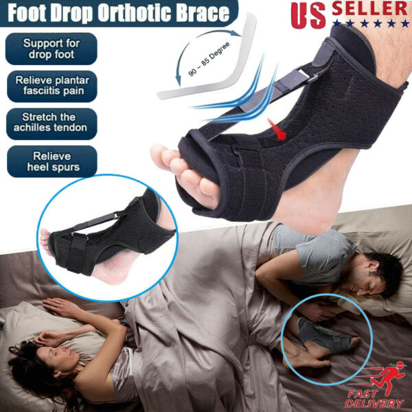 Plantar Fasciitis Night Splint Foot Drop Orthotic Brace Adjustable Achilles NEW