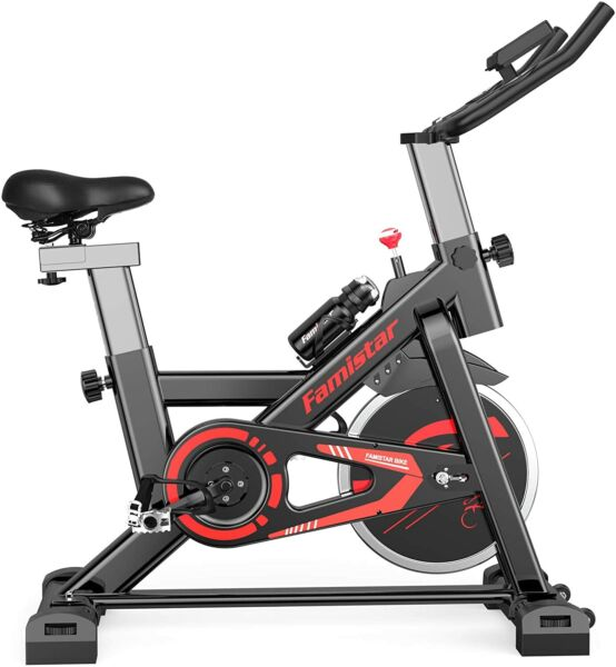 Exercise BikeIndoor Cycling Stationary Bike with 28.6Lbs Flywheel LED Screen $239.99