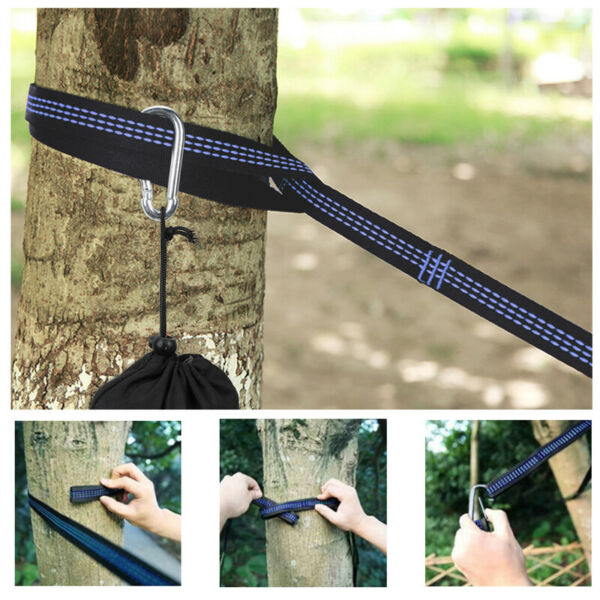 2x Polyester Slap Straps Suspension Hanging System for ENO Hammock 1000 Pounds $15.75