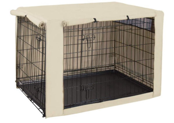 Double Door Dog Crate Cover Kennel 24 30 36 42 48 Inches Pet Wire Cage Hug $23.86