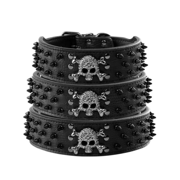 Dog Spiked Studded Rivets Dog Pet Faux PU Leather Collar Toy S L Black Punk New $9.53