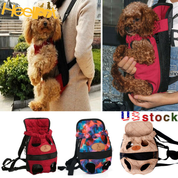 Pet Dog Carrier Legs Out Adjustable Front Outdoor Cat Pet Mesh Travel Backpack $11.88