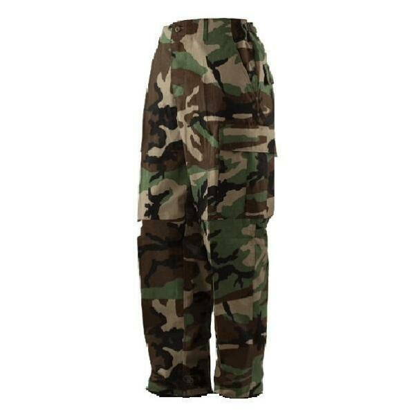 Military Issued Woodland Camo Pants NEW