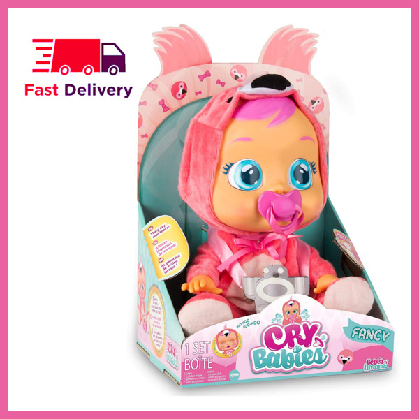 Cry Babies Fancy The Flamingo Doll Pink Cute Toy Gift