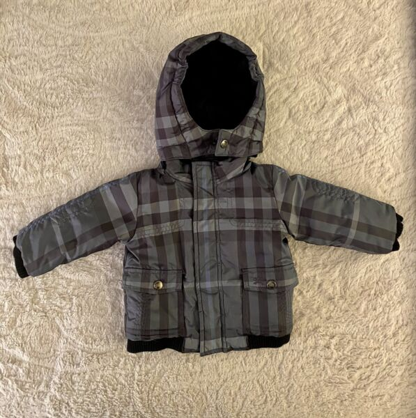 Burberry Boys Toddlers Kids Plaid Winter Puffer Jacket Coat. Blue 6 Months $179.00