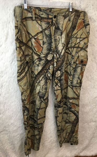 Vintage Skyline Hunting Camo Cargo Pants Lightweight Fall Men#x27;s L Waist 36quot;